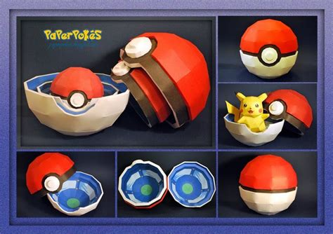 How To Make Paper Pokeball - paperpok 233 s pok 233 mon papercraft pok 201 box
