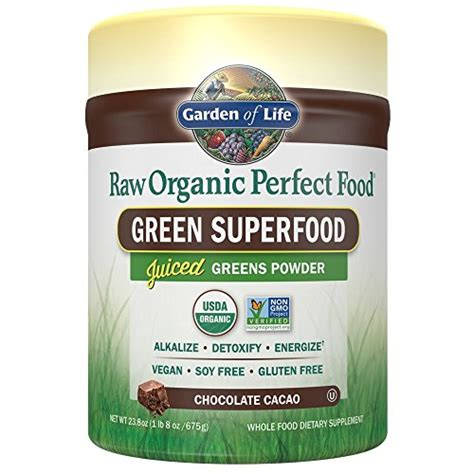 garden of vegan green superfood powder organic