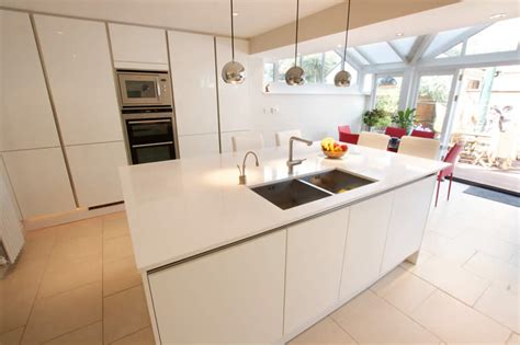 How To Make Kitchen Island by High Gloss Kitchens From Lwk Kitchens