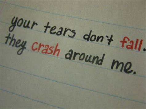 bullet for my tears dont fall lyrics quot your tears don t fall they crash around me