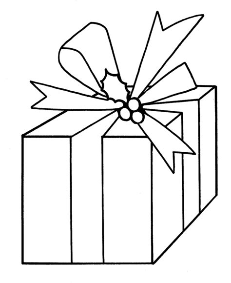 coloring pages of a christmas present pin present coloring pages on pinterest