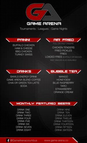 menu design jobs modern bold menu design job menu brief for game arena a