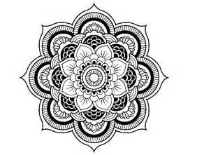 Dibujo de mandala flor oriental para colorear dibujos net