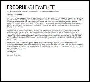endorsement letter letters livecareer