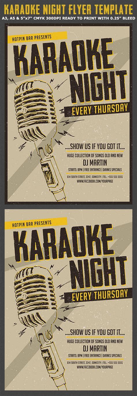 flyer template karaoke night party karaoke night flyer poster template flyerstemplates