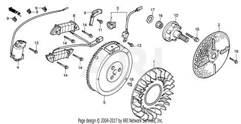 honda rt  multi purpose tractor jpn vin faa  parts diagram  flywheel