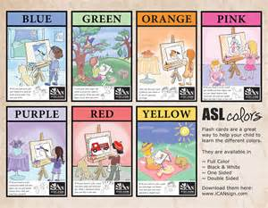 asl colors baby sign language chart breeds picture