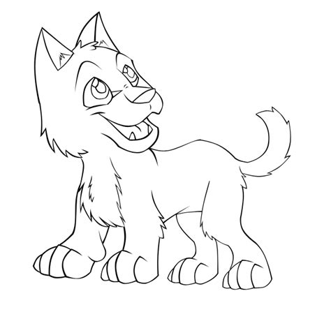 wolf puppies coloring pages cute cartoon wolf pup drawings pictures to pin on