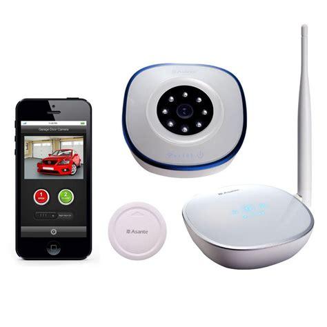 Garage Door Status Asante Garage Door Opener With Kit Sensor Receive Email And Text Notification On Status