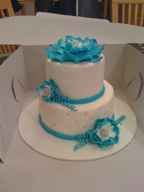 blue flower wedding cake blue flower wedding cake cakecentral