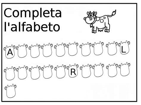 schede didattiche lettere alfabeto scheda didattica completa l alfabeto