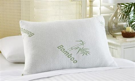 Gel Cover Pillow gel memory foam pillow with bamboo cover groupon