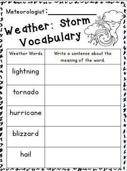 weather seasons literacy math mini unit freebies in