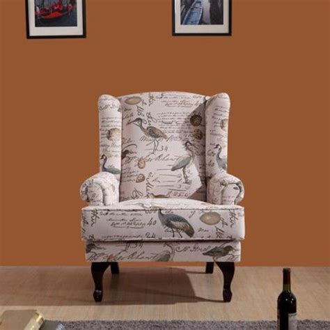 Printed Armchairs by Printed Occasional Wingback Armchair Lounge Chair Buy