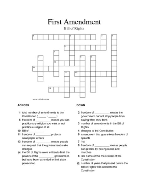 printable quiz on the bill of rights first amendment worksheets defendusinbattleblog