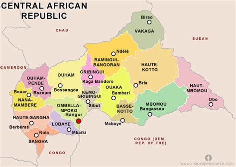 central african republic country profile  maps