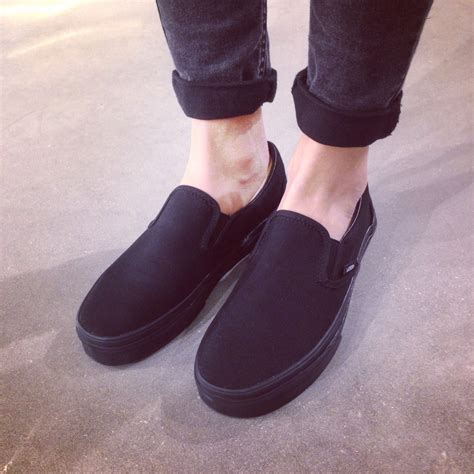 Vans Slip On Black vans slip on sneakers casual vans