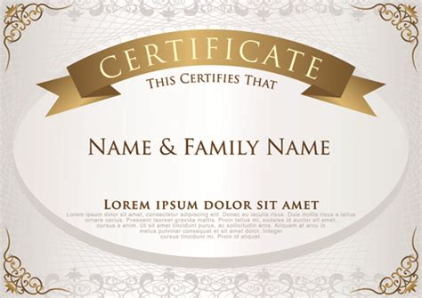certificate design template cdr elegant certificate template vector design 01 welovesolo