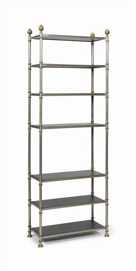 Etagere Metal A Silvered And Brassed Metal Etagere Possibly Jansen