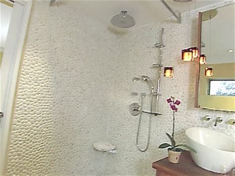 white pebble tiles bathroom white rapids pebble bathroom tile contemporary bathroom by design for less