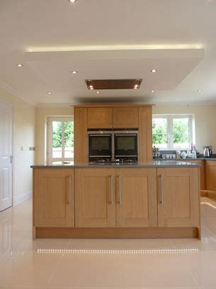 kitchen island extractor fan suspended ceiling with lights and flat extractor hood over