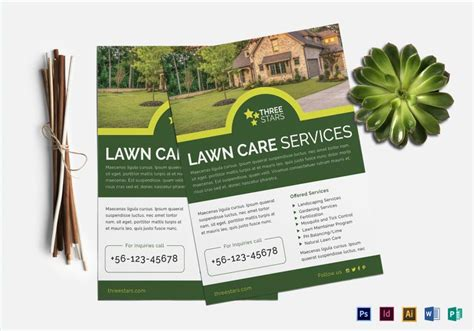 Lawn Mowing Business Flyer Templates
