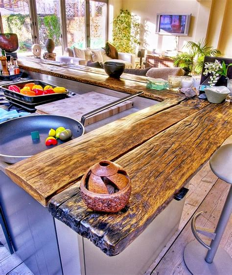 Building Kitchen Countertops by Reclaimed Wood Countertops Diy 187 Plansdownload
