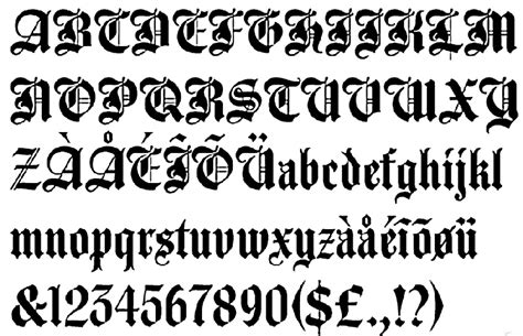tattoo fonts old english image gallery old english tattoo fonts