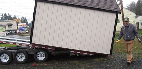 Shed Hauling by Shed Mover Mule Keywords Shed Mover Mule