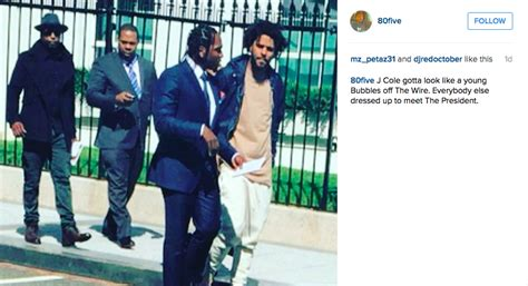 j cole house j cole dressed bummy at the white house and twitter had jokes bossip