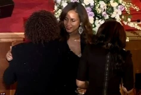 bad church singer whitney houston funeral alicia keys hugs bobbi kristina