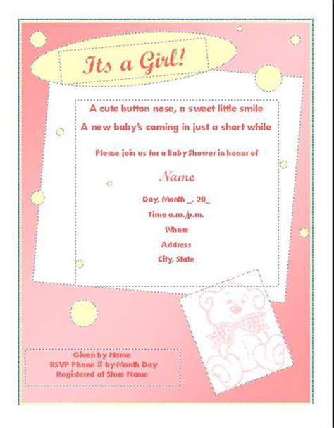 templates for baby shower flyer baby shower flyer template word stackerx info