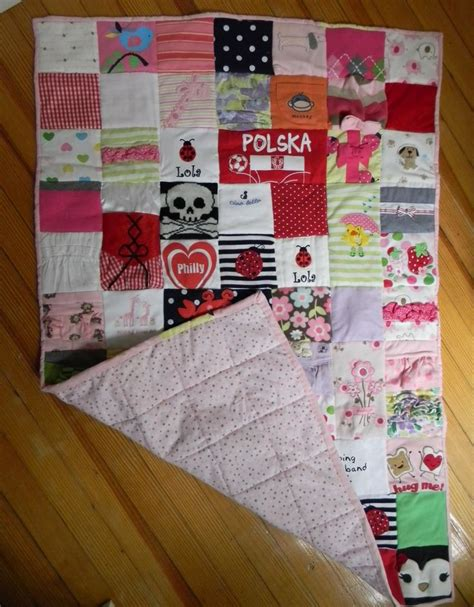 Patchwork Quilt Out Of Baby Clothes - 17 best images about baby quilt for aya on