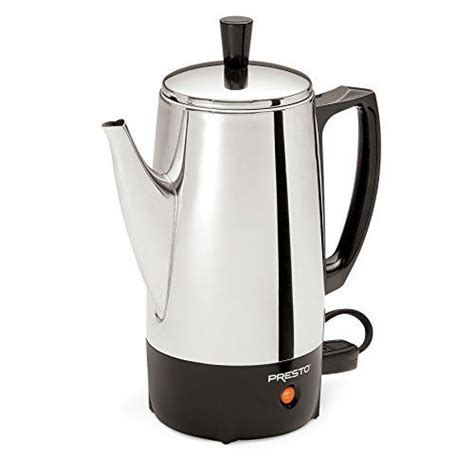 Coffee Pot Presto 02822 6 Cup Stainless Steel Percolator New Gift 75741028224   eBay