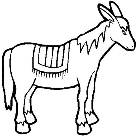 donkey coloring book page