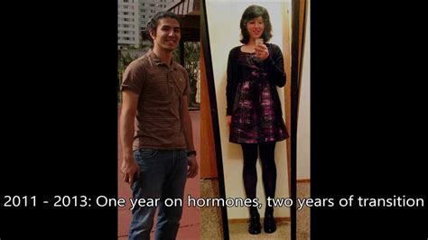feminization male to female body transitions female hormones just another transition video 1yr hrt mtf doovi