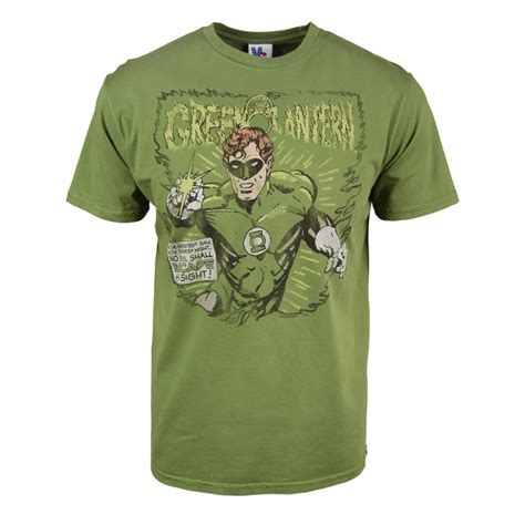 Food Tshirt mens retro green lantern t shirt by junk food