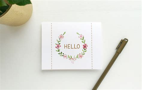 Hello Card Printable beautiful printable note cards out of office