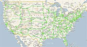 Maps Of Usa With States by United States Temperature Cellular Coverage Road