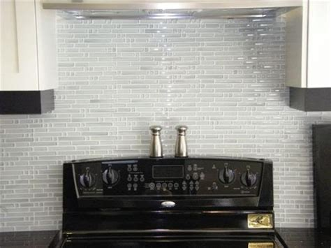 Blue Glass Kitchen Backsplash by White Glass Backsplash Tiles Roselawnlutheran