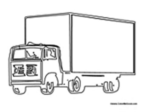 moving van coloring page a moving colouring pages