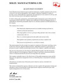 Quality Policy Template by Quality Policy Statement Best Template Collection