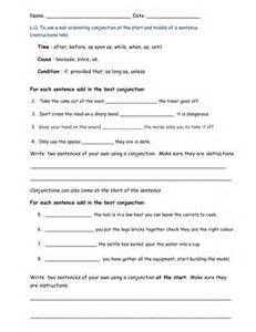 subordinating conjunctions by bethrob teaching resources