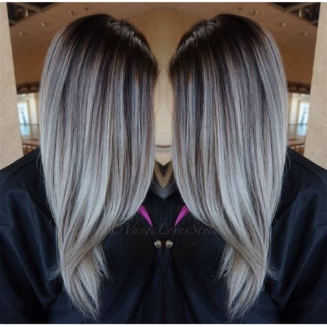 high lighted hair with gray roots 511 best images about blonde to gray on pinterest curls