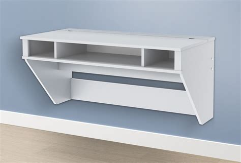 manhattan open computer desk with adjustable shelf white floating desk ideas floating corner shelves love the