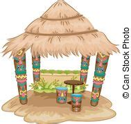 Tiki Hut Clipart by Traditional Hut Illustrations And Clip 491