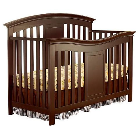 Sorelle Crib Conversion Kit by Lifetime Crib Merlot Expresso And White