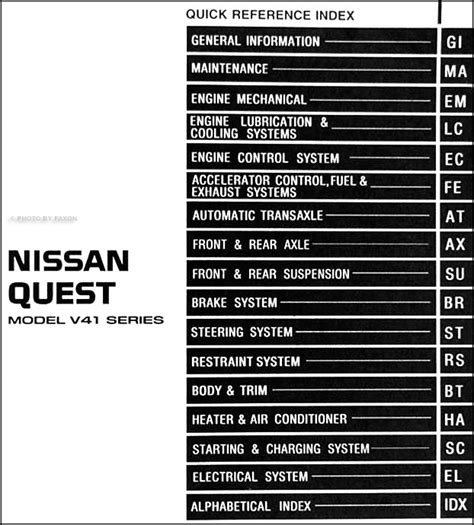 online service manuals 1999 nissan maxima electronic toll collection service manuals schematics 1999 nissan quest navigation system 1993 2001 haynes mercury