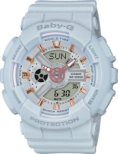 Baby G Casio Dg 120 Blue ba110ga 8a baby g ba 110 series womens watches casio