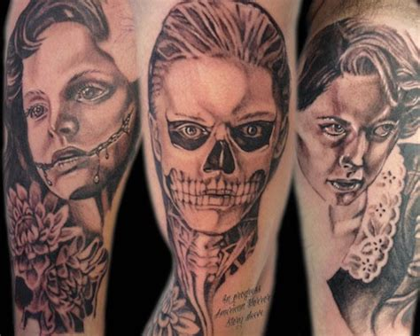 american horror story tattoo 20 staggering american horror story tattoos you ll need to see